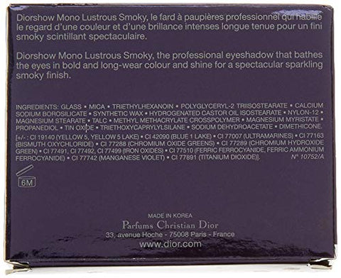 Christian Dior Diorshow Mono Lustrous Smoky Eyeshadow, 564 Fire, 0.06 Ounce