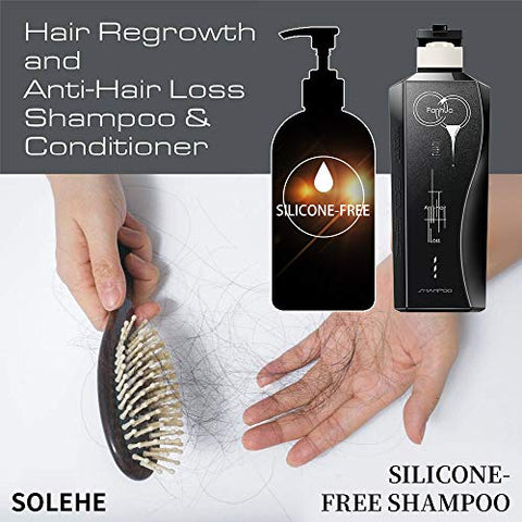 Solehe Hair Strengthening Shampoo For Men Plant Extract Silicone Free Dandruff Treatment And Scalp Care Hydration16.7 Fl.oz?500ml(Hair Loss Treatment)