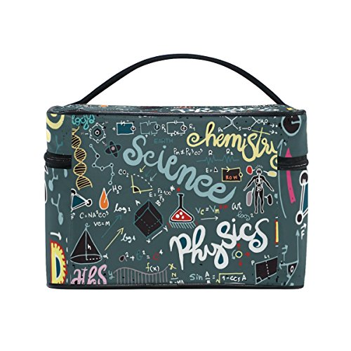 Cooper girl Science Math Chemistry Cosmetic Bag Travel Makeup Train Cases Storage Organizer