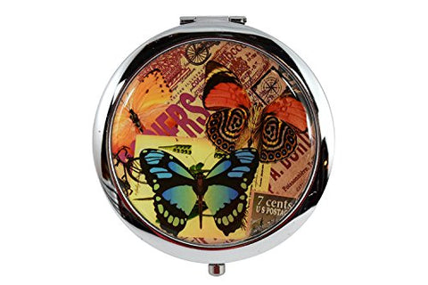 Vintage Butterfly Art - Lovely Butterfly Design Compact Mirror (A)