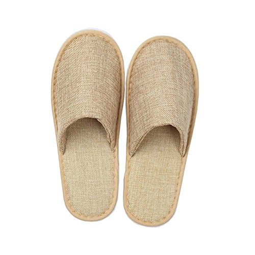 FANCY PUMPKIN 10 Pairs Non-Slip Hotel Shoes Spa Disposable Slippers Guest Slippers, E