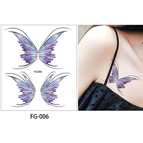 Highly and Fashion Recommend Glaryyears Glitter Waterproof Tattoo Temporary Sticker for Children Women Men Unisex 1Pc FG-006
