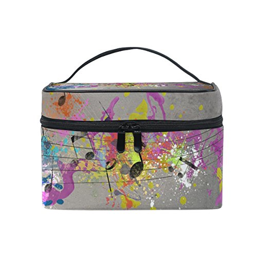 Cosmetic Case Bag Colorful Beat Note Portable Travel Makeup Bag Toiletry Organizer