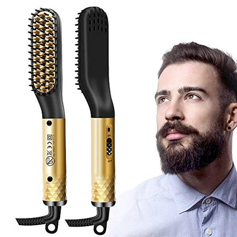 Lorchar Beard Straightener, Mens Hair Straightener Comb For Men, Ionic Quick Style Beard Hair Straig