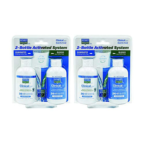 SmartMouth Clinical DDS 3.3oz 2-Bottle Activated Mouthwash System - 2 PACK