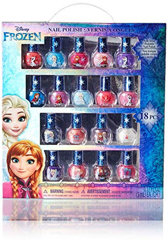 Townley Girl Frozen Non Toxic 18 Piece Peel Off Nail Polish Set