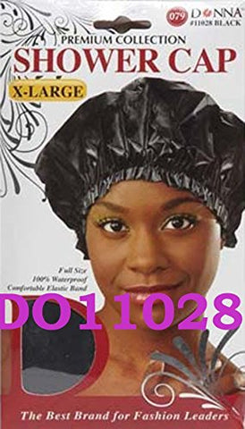 Donna Premium Shower Cap X Large Black