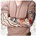 Image of 12 PCS Tattoo Sleeves for Men Women Seamless Arm Sleeves?Fake Temporary Tattoos Cover Up Sleeves for Outdoor Sunscreen Riding Cycling Elbow Braces Halloween