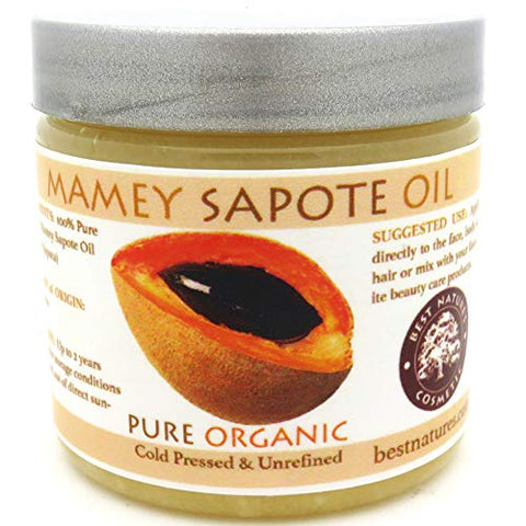 Mamey Sapote Oil Pure Organic Cold Pressed Unrefined 4 fl oz / 118 ml