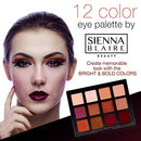 Image of Sienna Blaire Beauty Eyeshadow Palette 12 Color Bold Tone Eyeshadow Makeup Kit For Womenã¢â€â™S