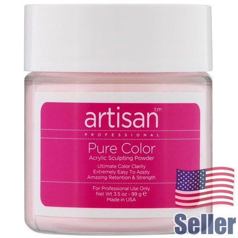 Artisan Acrylic Nail Powder | Brilliant Pink Color - Easy To Control