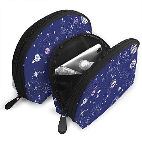 Space Earth Stars Portable Shell Cosmetic Storage Bag Travel Pouch Bag