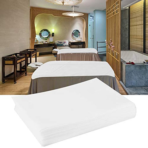 Disposable Bed Sheet, Waterproof Oil-proof Bed Cover Massage Bed Sheet Protecting Sheet for Salon SPA Tattoo Massage Table Hotels - 69.7 31.5 inch(White)