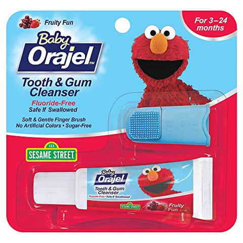 Baby Orajel Tooth & Gum Cleanser Fruity Fun - 0.7 oz, Pack of 2