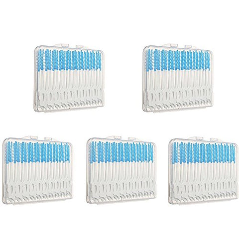 200Pcs Blue Double Sided Dental Floss Toothpick Soft Bristles Gently Massage Gum