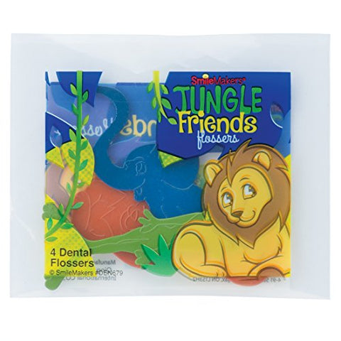 Jungle Friends Flosser Packs - Dental Hygiene Products - 144 per Pack
