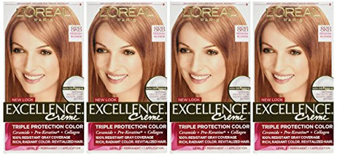 L'Oreal Excellence Creme 8RB Medium Reddish Blonde (Warmer) 1 Each (Pack of 4)