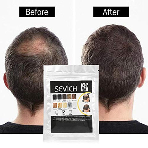 Hair Fiber, Coverage Hair Powder Hair Fiber Refill Bag for Thinning Hair, Building Fiber Hair Thickener Hair Professional Hair Fiber (DARK-BROWN)