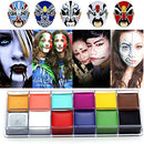 Image of Face Body Paint IMAGIC Brand 12 Flash Colors case Halloween Party Fancy Dress Tattoo Oil Painting Art Beauty (1)