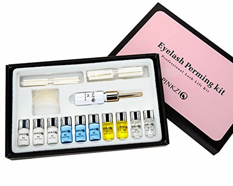 Pinkzio Premium Eyelash Perm Kit Full Eyelash Lift Kit For Professional Use, 15 in 1 Salon Lashlift Eyelash Perming kit