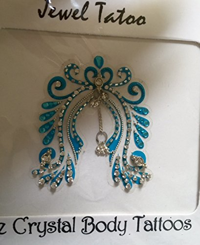 THE BEST SELLING VAJAZZLE CROTCH TATTOO, JENNIFER DID IT NOW YOU TOO CAN, DEFINITIONS WEARABLE ART SINCE 1995 (TURQUOISE)