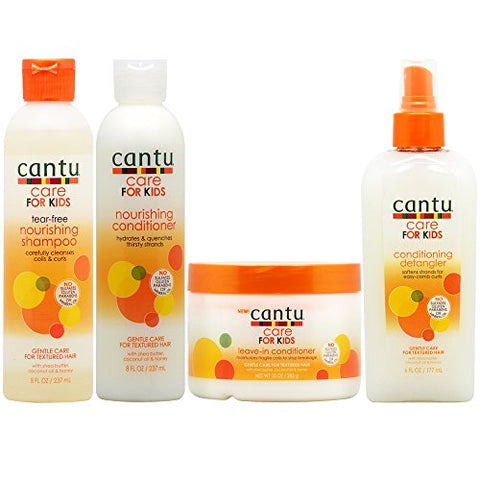 Cantu Care for Kids Shampoo + Conditioner + Leave-in Conditioner + Detangler