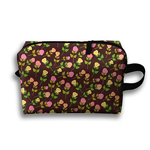 Women's Travel Case Cosmetic Storage Bags Florals Makeup Clutch Pouch Organizer Bag Pencil Holder