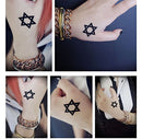 Image of Gumstyle Star of David 5 Sheets Waterproof Temporary Tattoos Costume Cosplay Body Stickers