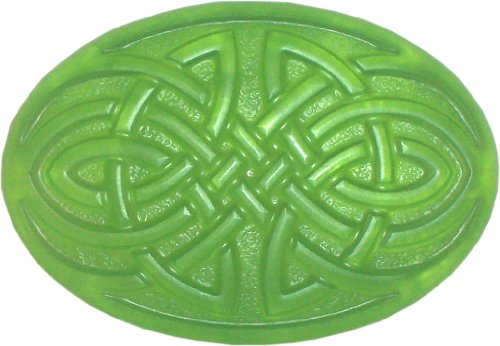 Celtic Knot Soap, Cherry Almond, Clear Green