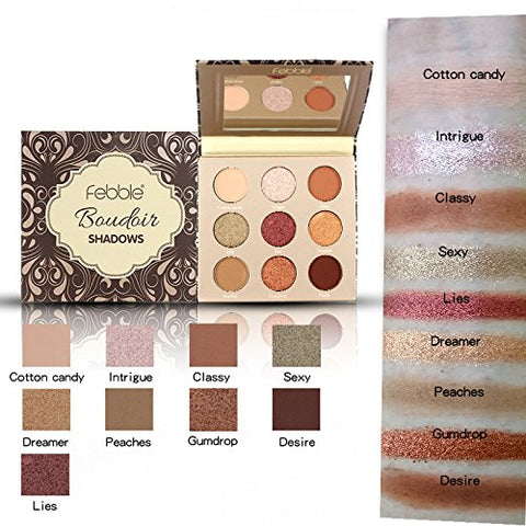 Professional 9 Colors Nude Brown Neutral shimmer Eyeshadow Palette (01)