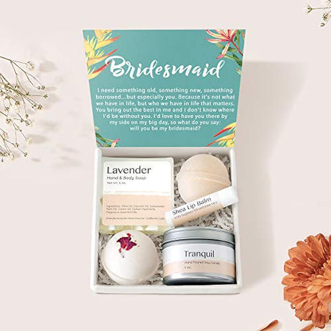 Bridesmaid Spa Gift Box: Bridesmaid Proposal, Bridal Spa Gift Box Wedding Gift, Wedding Spa Gift Box, Maid of Honor