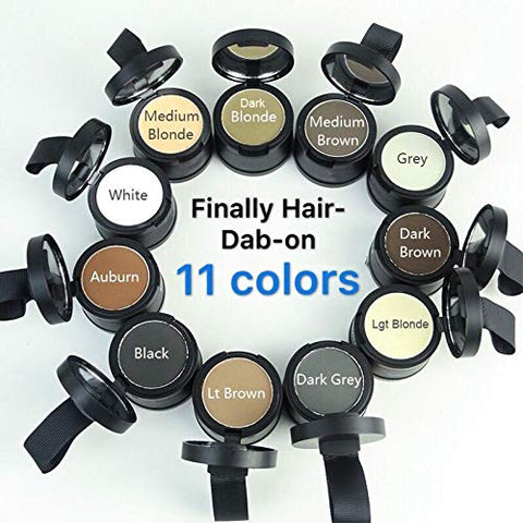 Finally Hair Auburn Dab-on Hair Fibers & Hair Loss Concealer, Hairline Creator, Eye Brow Enhancer, and Beard Filler. Dab-on Hair Fiber Cream (Auburn)