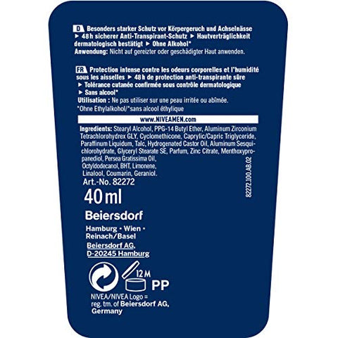 Nivea Men Ultimate Protect 48h Anti-Perspirant Stick 40 ml / 1.3 oz