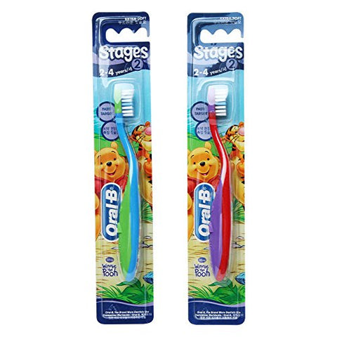 Oral-B Stages 2 Toothbrush 2-4 years 2 Pack/GENUINE and ORIGINAL Packing