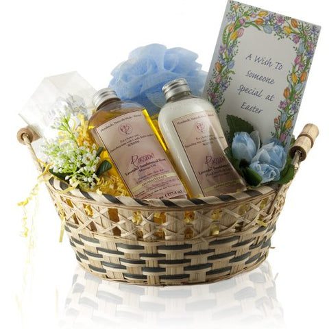 Castle Baths - Special Easter Gift Basket - Lavender Rose Sandalwood