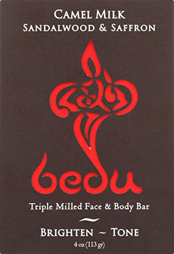 Bedu 6 Piece Face and Body Bar, Sandalwood and Saffron, 4 Ounce