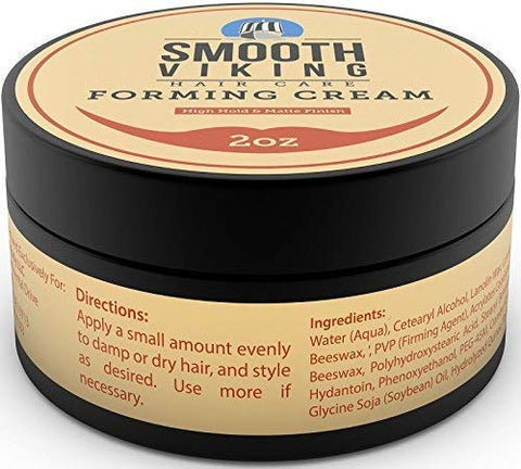 Smooth Viking Forming Cream for Men, High Hold and Matte Finish, For Short and Long Hair Types, 2 Ounces