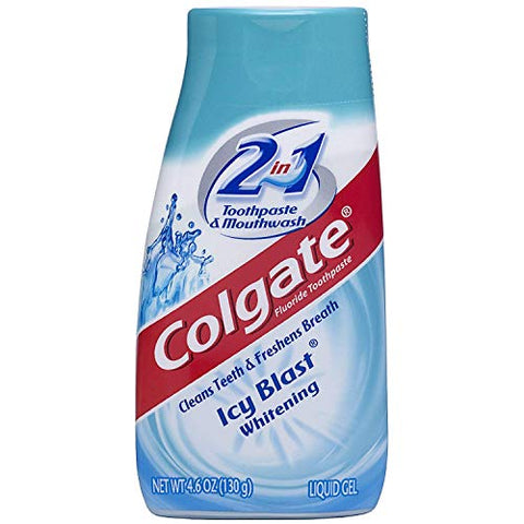 Colgate 2-in-1 Toothpaste and Mouthwash, Whitening, Icy Blast 4.60 oz (Pack of 3)