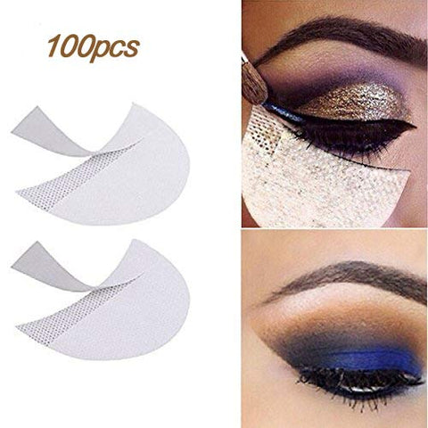 Lke 100pcs Eyeshadow Stencils Professional Pads Under Eye Eyeshadow Gel Pad Patches For Eyelash Exte