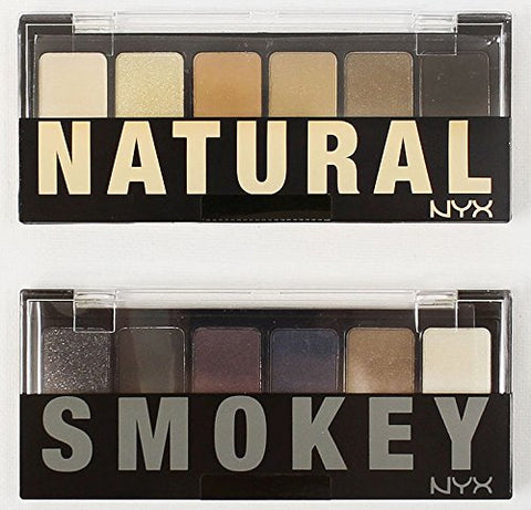 2 NYX Palettes (1 The Natural and 1 Smokey Shadow) (TNS01 + TSS01)
