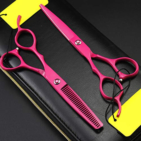 Left Handed Professional Hairdressing Scissor, Perfect For Hair Salon Barber Moustache Haircut Comes With Beautiful Black Scissors Pouch Case Hairdresser And Home Use To Trim Your Beard,6inchset