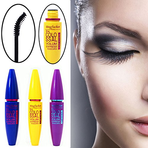 Big Washable Black Mascara Hosamtel Highest Quality Natural Eyelash Waterproof Extension Curling Eye Lashes Makeup Tool (Colossal Purple)