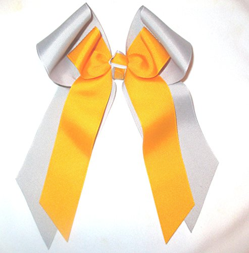 Custom Double Hair Bow. Made in the USA, French Clip or white pony band ss1