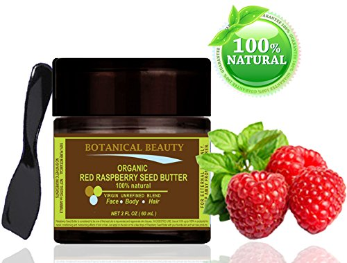 Red Raspberry Seed Butter Organic 100% Natural / 100% Pure Botanicals. Virgin/Unrefined Blend. Cold