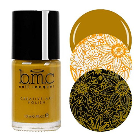 Maniology (formerly bmc) Mustard Yellow Colored Creative Art Stamping Polish Set - Mythos Collection, Turmeric Sun