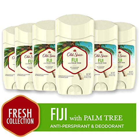 Old Spice Antiperspirant and Deodorant for Men, Fiji with Palm Tree Scent, 2.6 Oz (Pack of 6)