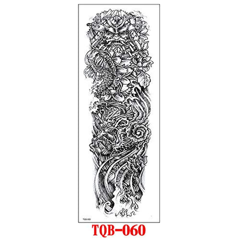 Full Arm Tattoo Stickers Full Arm Tattoo Stickers Set Waterproof And Sweatproof Full Arm Tattoo Stickers 17X48Cm 4Pc