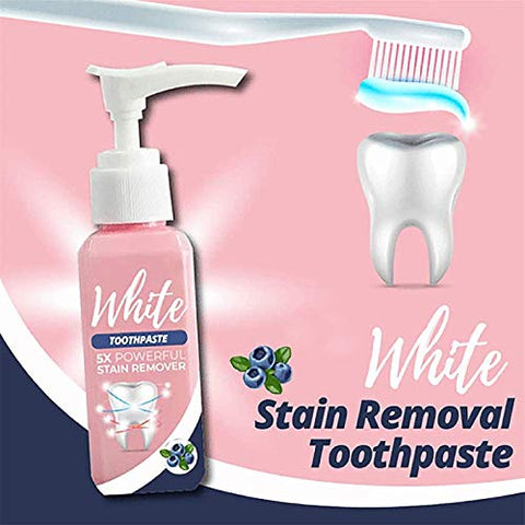 Stain Removal Toothpaste Teeth Whitening Oral Dental Stains,Whitening Toothpaste,Baking Soda Toothpaste,Intensive Stain Removal Whitening Toothpaste (100ml, 2 Pcs)