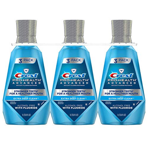Extra New 379405 Crest Pro-Health Advantage Mouthwash Deep Clean 33.8 Oz (-Pack) Oral Care Wholesale Bulk Health & Beauty Oral Care Lighters