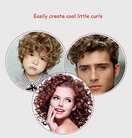Nosterappou Hair curler digital display ultra-fine electric roll bar mini small curling device, easy to create cool little curly hair, LCD display, temperature controllable, handle anti-slip design, m